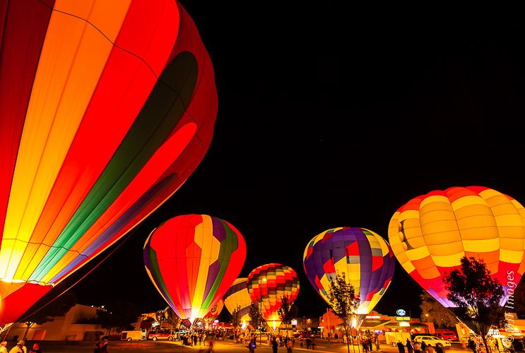 The Page Balloon Regatta culminates in a panoply of glowing balloons.