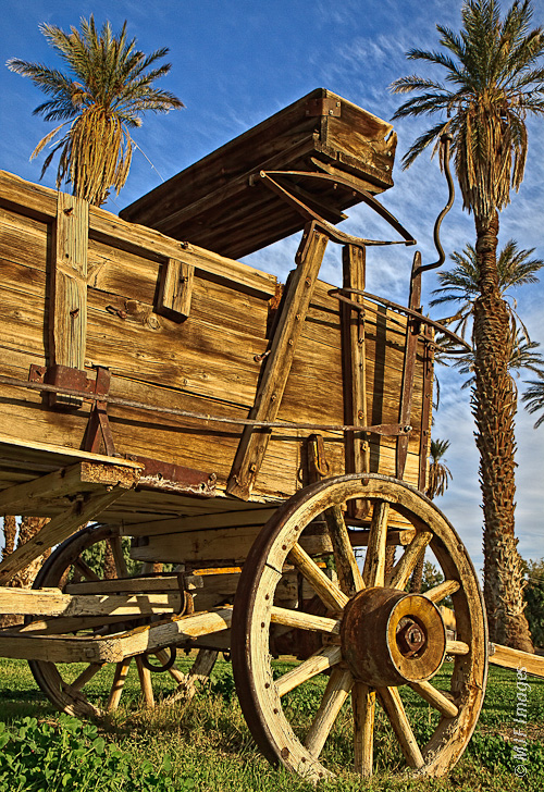 An old wagon at Furnace Creek Ranch, Death Valley, CA.