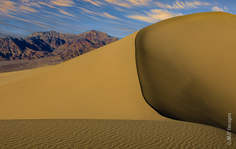 The soaring dunes at Mesquite Flat in Death Valley National Park, California.