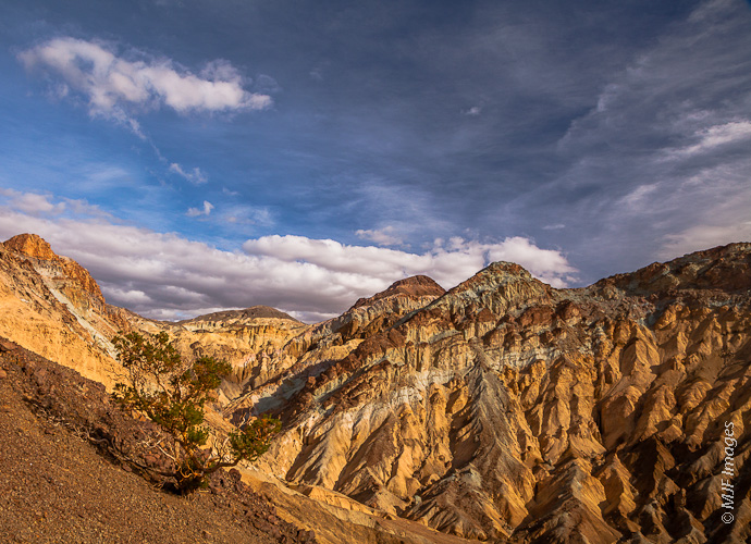 The famous Artist's Palette in Death Valley as viewed from atop the ridge that is most often photographed.