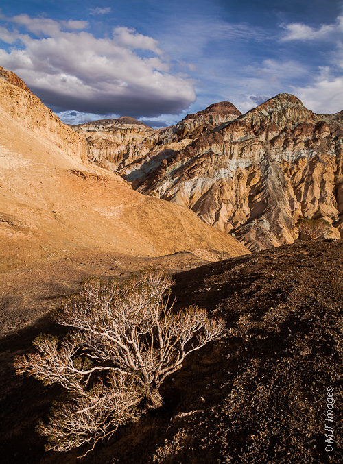 A different view of the famous Artist's Palette in Death Valley National Park, California.
