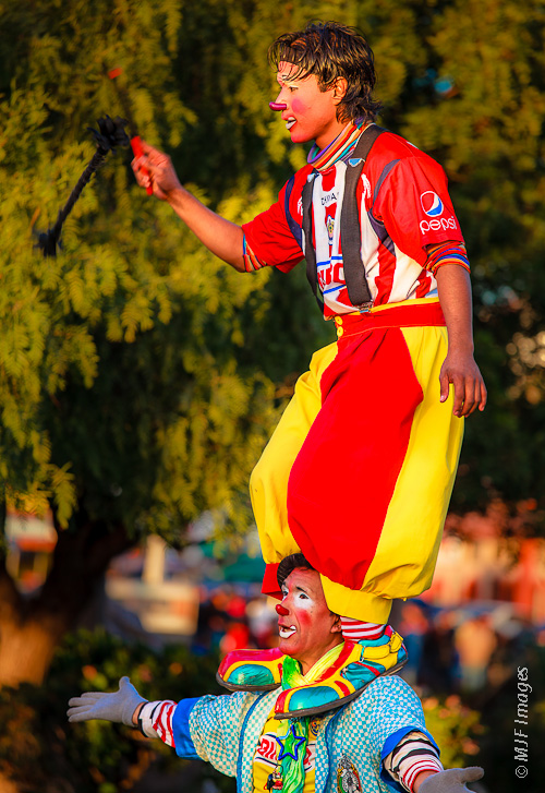 Frequent any town square in Mexico and you will see clowns who often draw very large crowds.