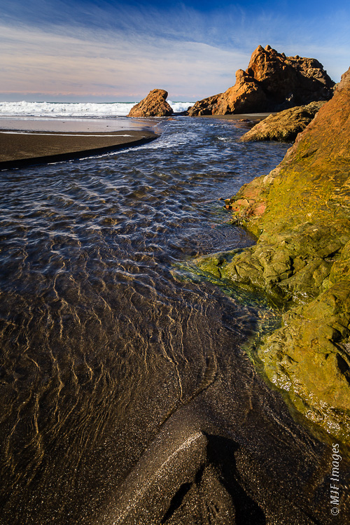 The part of the northern California Coast between Fort Bragg and Eureka is called the Lost Coast.