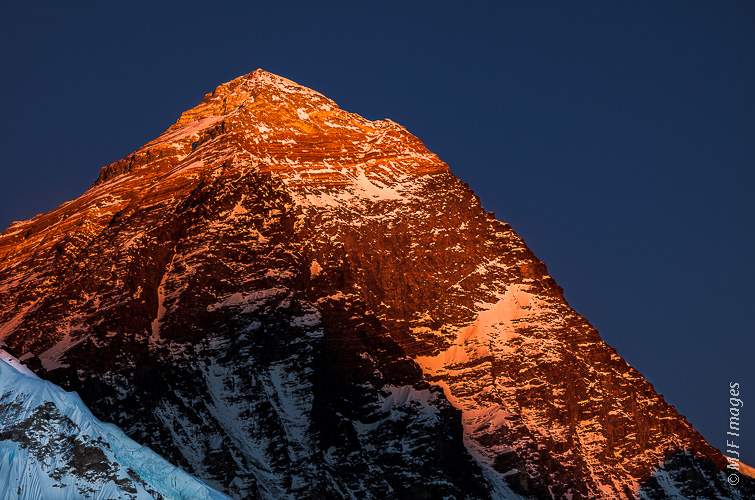 The world's highest mountain, Everest (Sagarmatha).  I finally made it here on a trek in Nepal, but did not climb it.