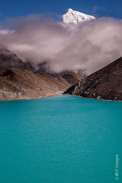 Glaciated mountains like the Himalaya have turquoise jewels for lakes, because of the fine rock flour that glacial erosion produces.
