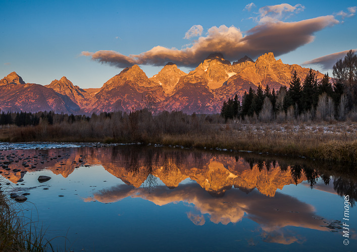 One of North America's most beautiful range of mountains, the Grand Tetons.