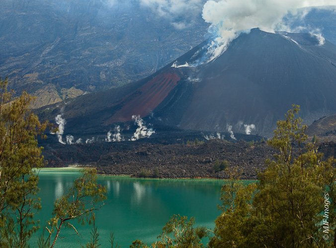 Active volcanoes (this one in Indonesia) could have easily provided a spark for the origin of life.