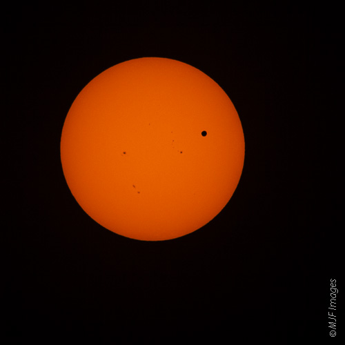Venus passes in front of the Sun, an event that won't be repeated for over 100 years.