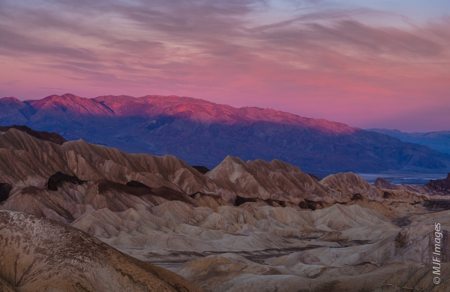 Gorgeous dawn light greets me as I enter Death Valley from the east.
