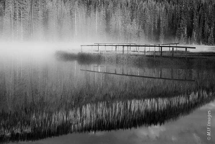As the dawn mist begins lifting, a pond in the Montana high country begs to be fished.