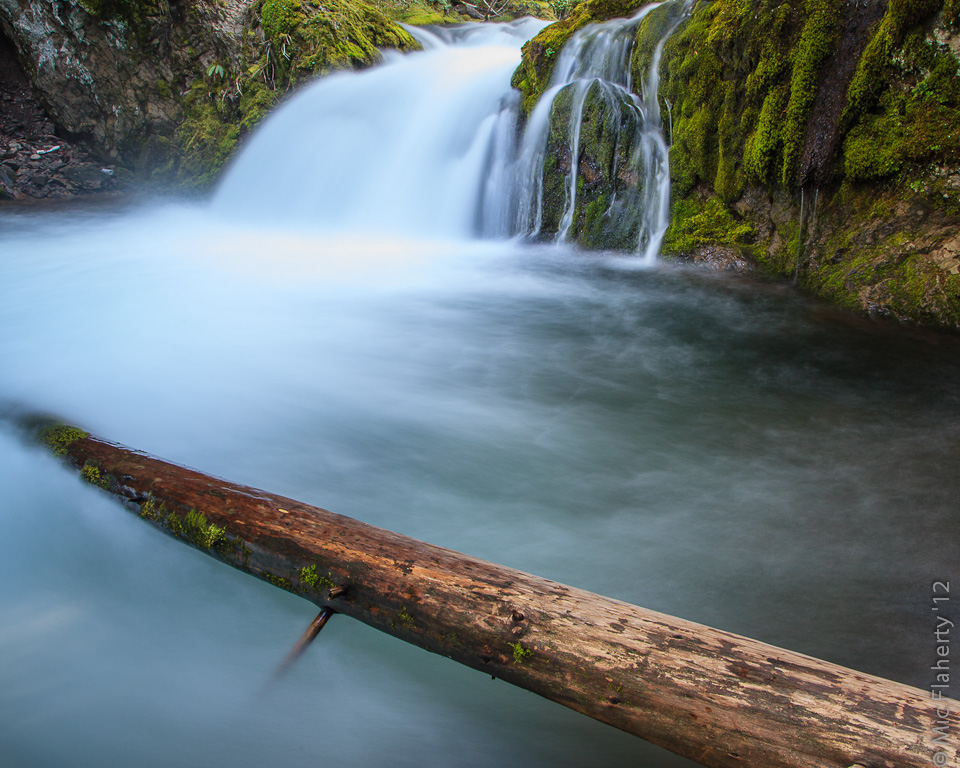 Beautiful pools and small waterfalls occur along the trail to Tamanawas Falls near Mount Hood, Oregon.