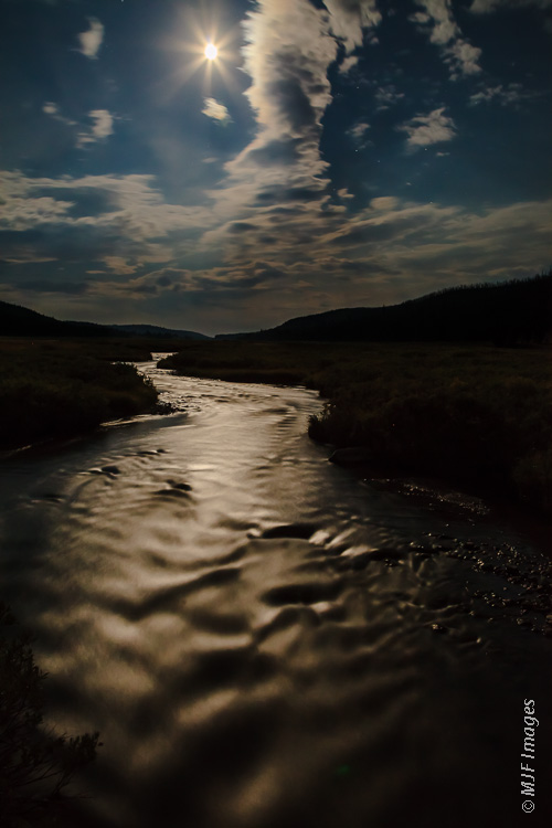 Night photography has become a favorite of mine:  The Gallatin River flows from Yellowstone north into a beautiful valley in Montana.