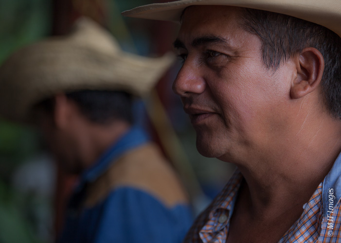 I am not a frequent photographer of people, but I do love opening up to them when I'm traveling: Two vaqueros from the Nicaraguan island of Ometepe.