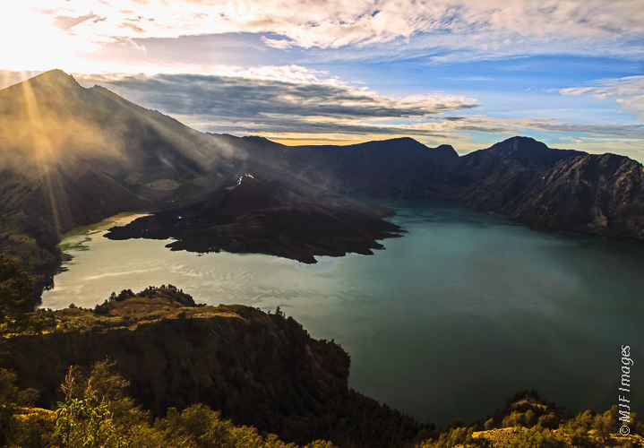 Squarely in my comfort zone: Mount Rinjani's summit on the island of Lombok is a spectacular place to watch the sunrise.