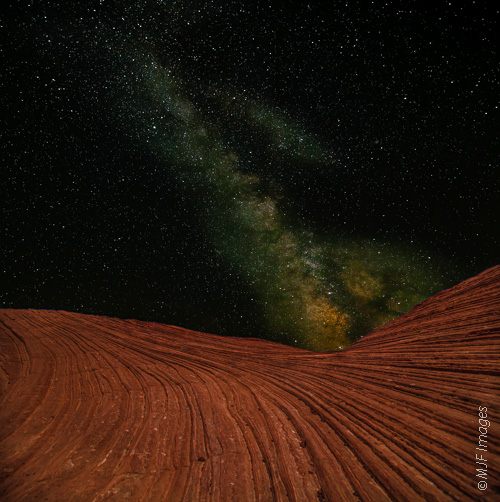 I'm a night person and an astro nerd.  The Milky Way emerges above the redrock country of southern Utah.