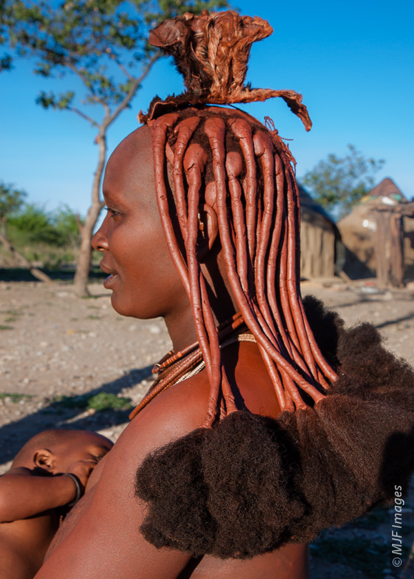 Mother's day is a great time for a new hairdo!  A Himba mom in Namibia.
