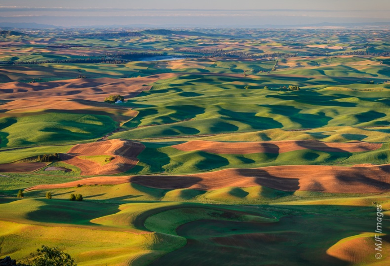 The classic view of the Palouse from atop Steptoe Butte in eastern Washington.