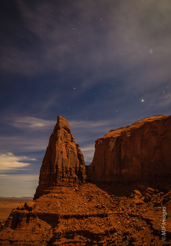 Wandering around Monument Valley during a full moon is a special experience.