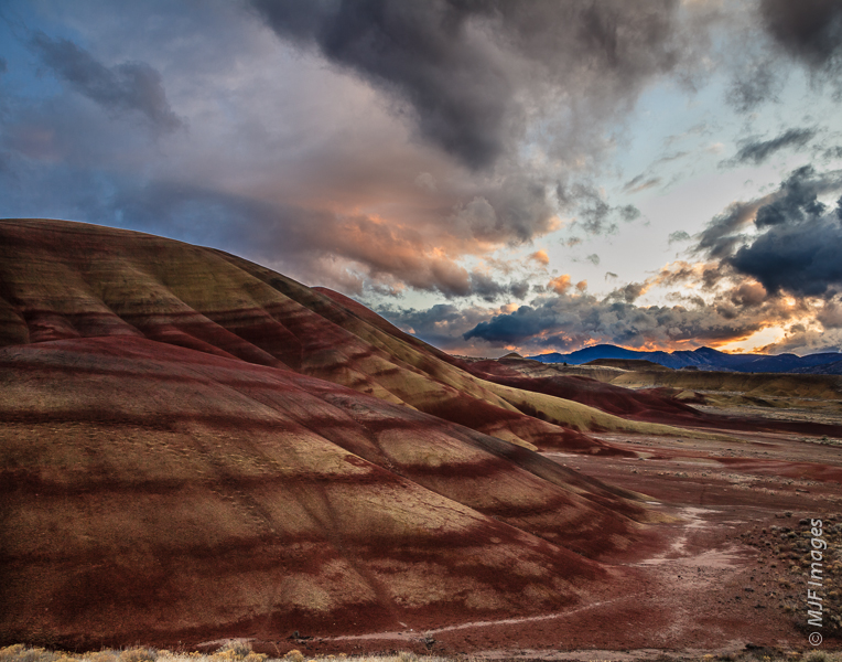 Oregon's Painted Hills are made up of repeating layers of colorful and ancient volcanic ash.