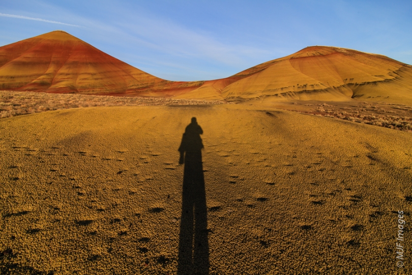 Self-portraiture in the Painted Hills, central Oregon.