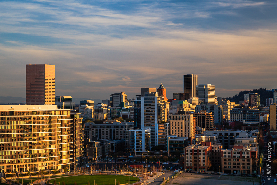 The view of the northwest side of Portland, Oregon's skyline is not one you see often.