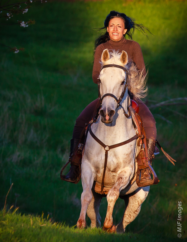 This was her first ride on my horse, believe it or not.  And boy did she get a ride!