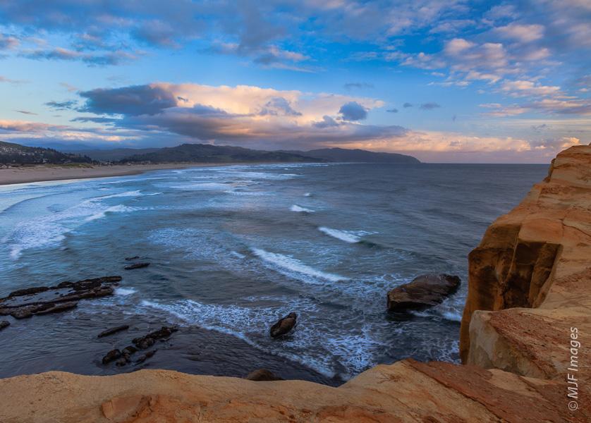 The view south from Cape Kiwanda on the Oregon Coast.
