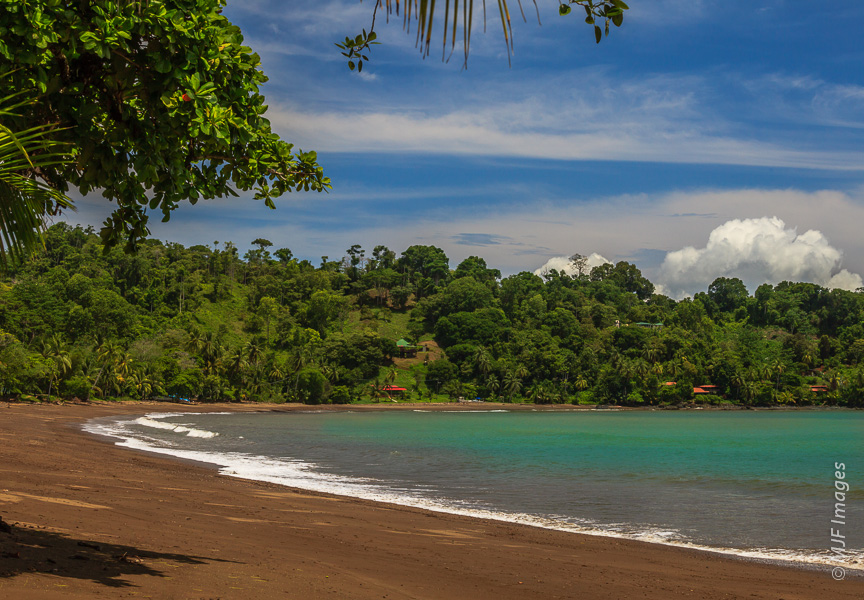 An empty beach invites exploration on Costa Rica's remote Osa Peninsula.