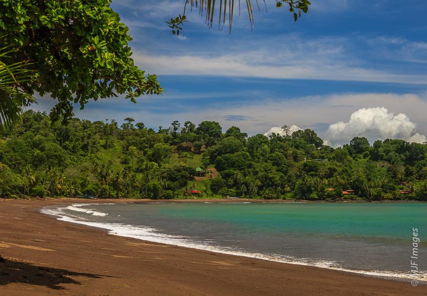 An empty beach invites exploration on Costa Rica's remote Osa Peninsula.