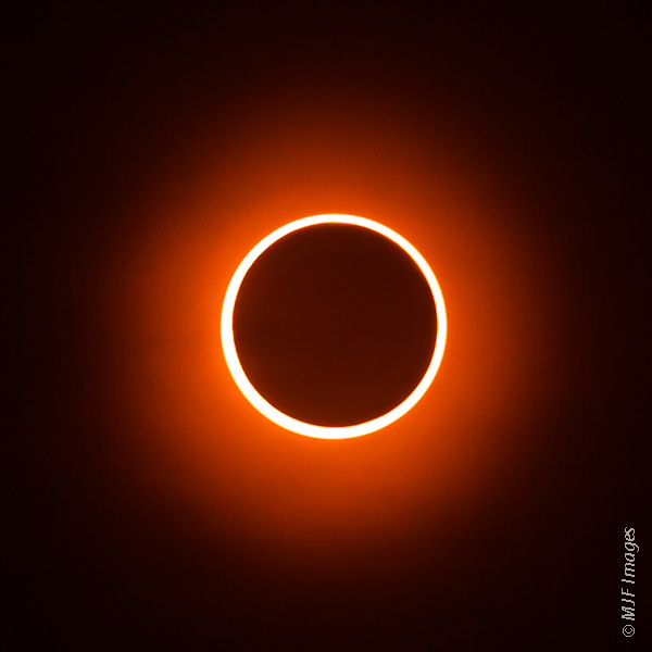 It's a lucky thing to be able to see a solar eclipse, and an annular eclipse like this one of 2012 highlights both of nature's most powerful circles - the sun and the moon.
