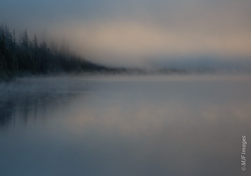 Dawn at Lost Lake, Oregon.  100 mm., 1/15 sec. @ f/10, ISO 100.