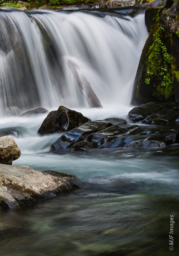 There are many many waterfalls at Mount Rainier.  This one sits along a lightly traveled trail in the Paradise Valley.