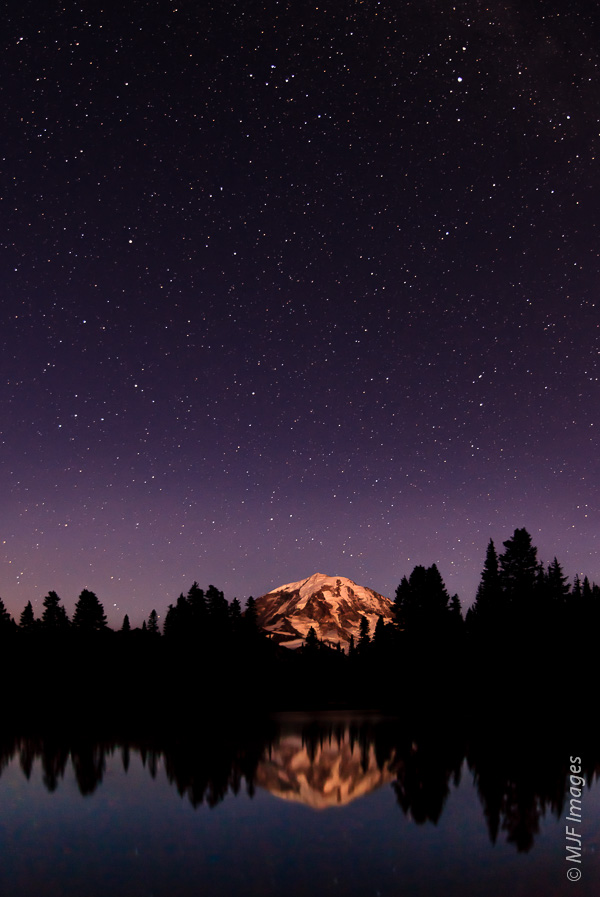 Night Sky at Rainier:  Did a delegation come from a planet orbiting one of these stars?