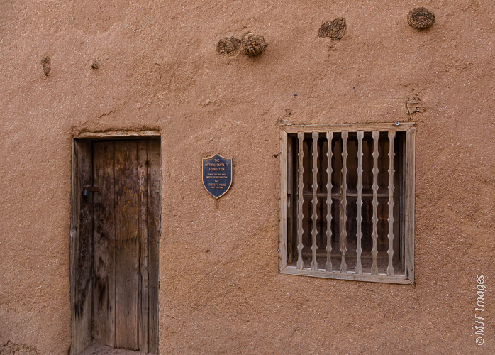 """Built in 1607, this is America's """"oldest"""" house, though since it is adobe, it's been continuously patched and rebuilt over the years."""