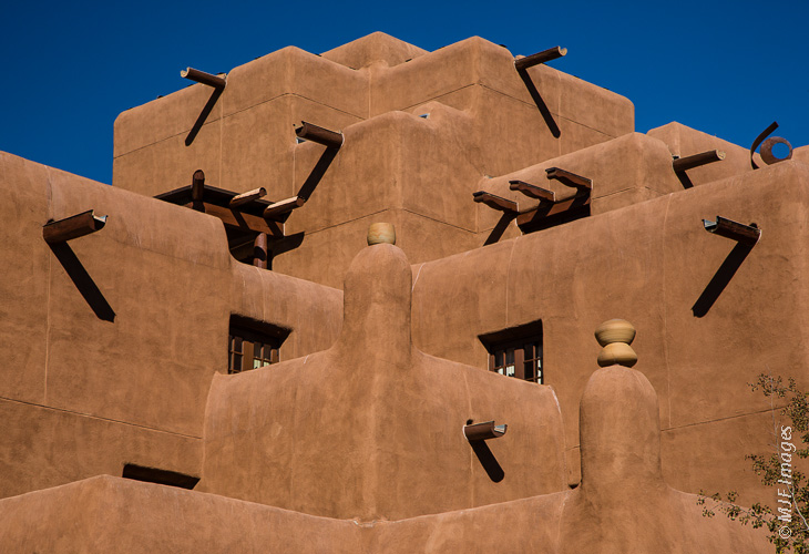 Adobe rules in Santa Fe, New Mexico.