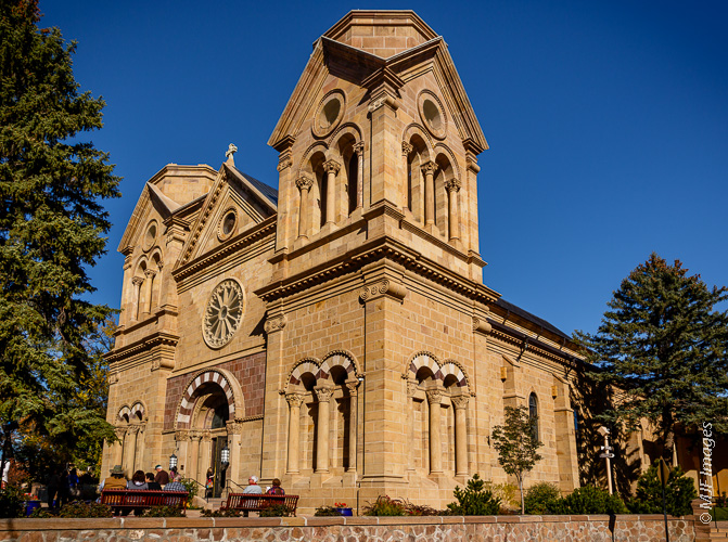Cathedral Basilica of St Francis of Assisi in Santa Fe, New Mexico.