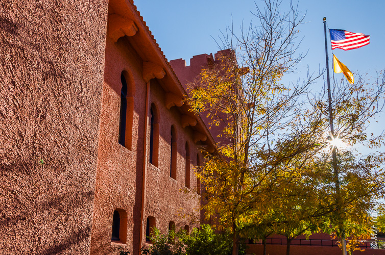 The Scottish Rite Cathedral is located a mile or so from the center of Santa Fe but is a magnificent building worth photographing.