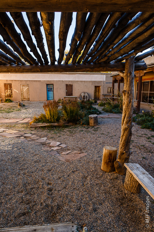 The restored placita next to the Kit Carson Home in Taos, New Mexico.
