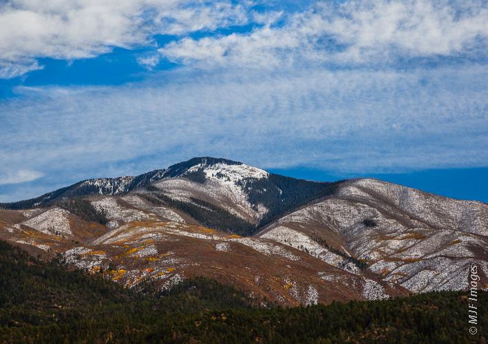 A simple mountain portrait: New Mexico's highest point, Wheeler Peak.