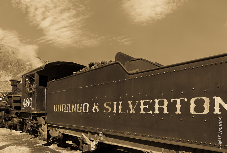 The tourist train that runs between Durango and Silverton, Colorado is authentically steam-powered.