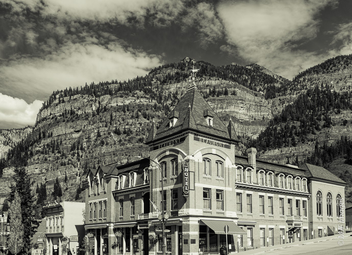 The Beaumont Hotel in Ouray, Colorado was built in 1879.