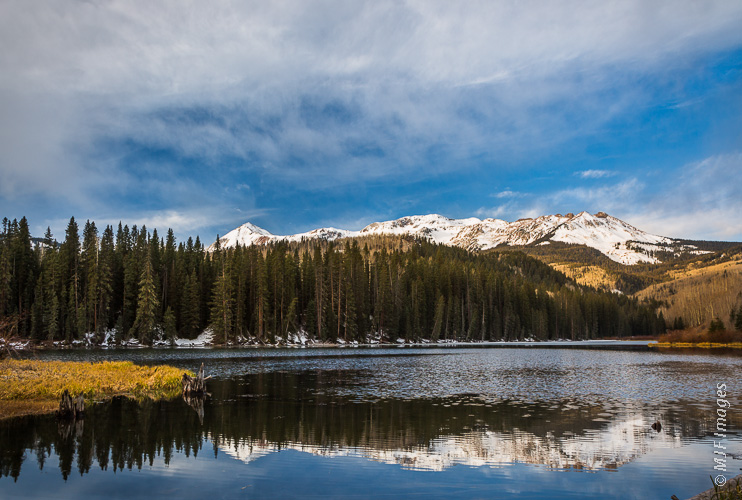 Woods Lake in Colorado's San Juan Mountains.