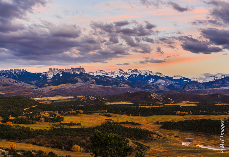 An eastern arm of Colorado's spectacular San Juan Mountains.