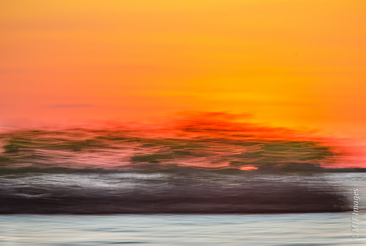 Click on this image of a sunset in abstract for purchase options.  The fast camera movement here was courtesy of a speeding motorboat in Sian Kaan Lagoon, Yucatan, Mexico.