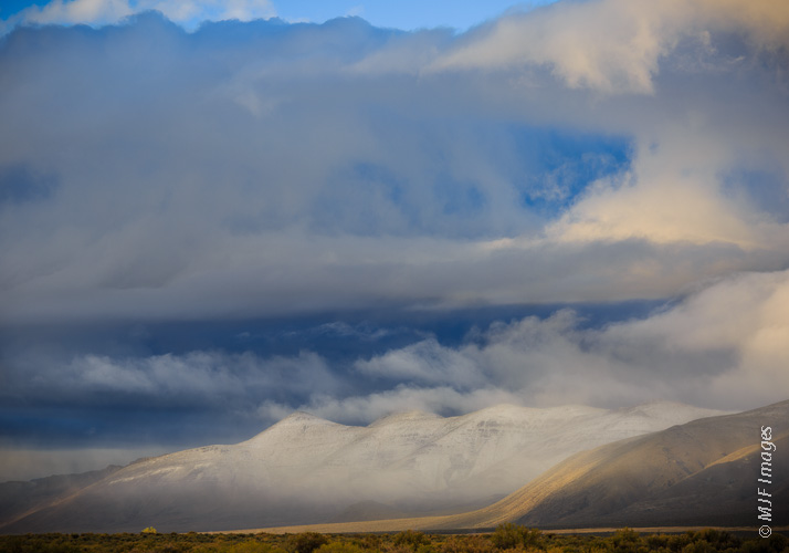 Termination Dust: Snow dusts the Pueblo Mountains in remote southeastern Oregon.