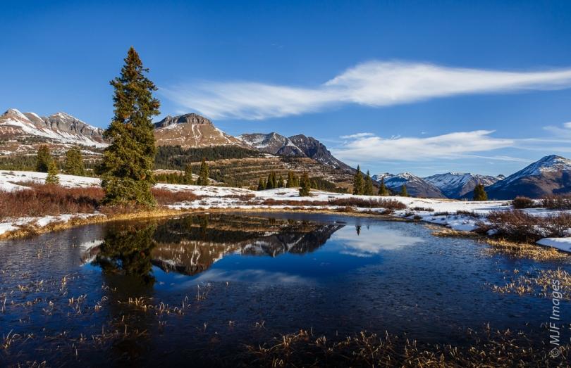 An alpine lake high in the San Juan Mountains, Colorado.