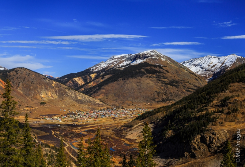 Silverton sits in a high valley between Molas and Red Mountain Passes.