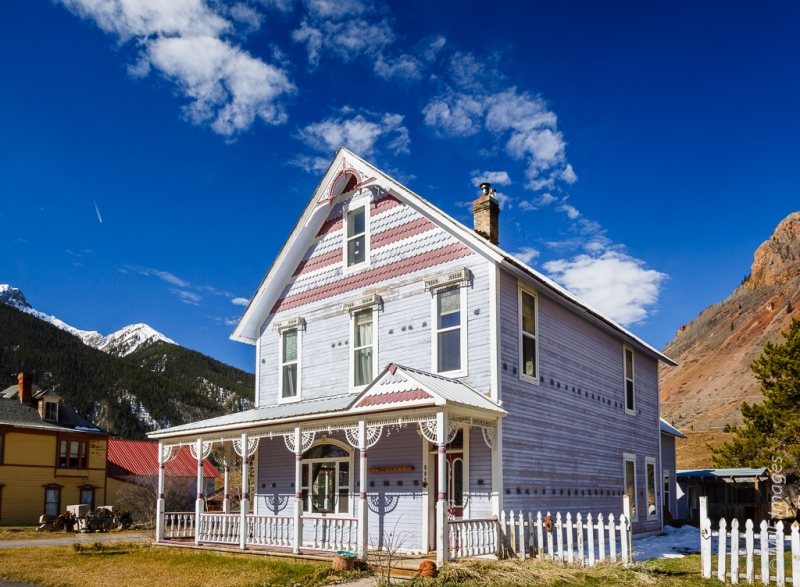 Silverton's mining-driven boomtime was in the late 1800s, as the architecture suggests.