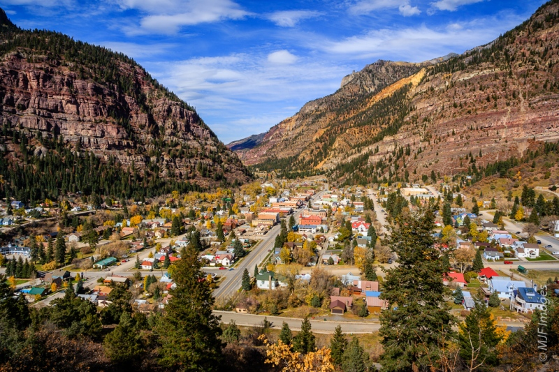 Ouray, Colorado is a small town situated in a spectacular spot.