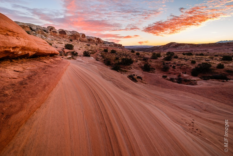 Slickrock makes the finest riding surface for biking around Moab, Utah.